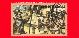 SENEGAL - Usato - 1991 - 500 Anni Della Scoperta Dell' America - Incontro Con Nativi Haitiani - 100 - Senegal (1960-...)
