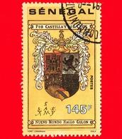 SENEGAL - Usato - 1991 - 500 Anni Della Scoperta Dell' America - Stemma Personale Di Colombo - 145 - Senegal (1960-...)