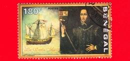 SENEGAL - Usato - 1991 - 500 Anni Della Scoperta Dell' America - Cristoforo Colombo - 180 - Senegal (1960-...)
