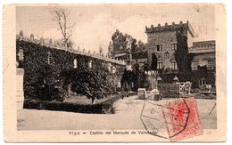 Tarjeta Postal De Vigo - Castillo Del Marques De Valladares Con Matasellos Ambulante. 1912 - 1889-1931 Reino: Alfonso XIII