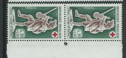 [27] Variété : N° 1541 Croix-rouge 1967 Timbre Plus Petit Tenant à Normal ** - Varieties: 1960-69 Mint/hinged