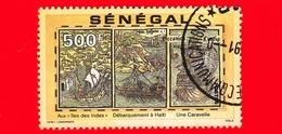 SENEGAL - Usato - 1991 - 500 Anni Della Scoperta Dell' America - Dettagli Dei Viaggi - 500 - Senegal (1960-...)