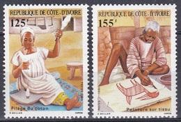 Elfenbeinküste Ivory Coast Cote D'Ivoire 1986 Wirtschaft Economy Landwirtschaft Baumwolle Cotton, Mi. 886-7 ** - Côte D'Ivoire (1960-...)