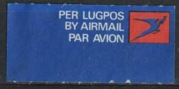 Namibie étiquette Label Per Lugpos By Airmail Par Avion - Namibie (1990- ...)