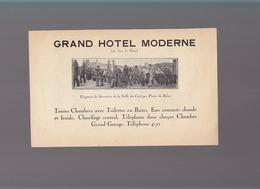 Finistere - Quimper - Meubles Décorateur Breton P.Fouillen /Grand Hotel Moderne Tableau Pierre De Belay - Publicités
