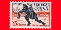 SENEGAL - 1961 - Sport - Danza - Jeu Du Faux Lion -  45 - Senegal (1960-...)