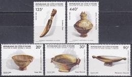 Elfenbeinküste Ivory Coast Cote D'Ivoire 1986 Handwerk Handicraft Geschirr Schalen Schüssel Töpfe Löffel, Mi. 897-1 ** - Côte D'Ivoire (1960-...)
