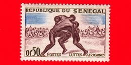 SENEGAL - 1961 - Sport - Arti Marziali - Lotta - Wrestling -  0.50 - Senegal (1960-...)