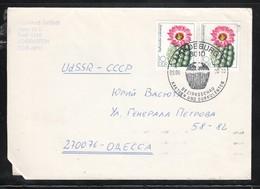 DDR 1983, Brief Mit 2xMiNr. 2803 Und SStpl.(Kaktus)  / GDR 1983, Cover With 2x MiNr. 2803 - Sukkulenten