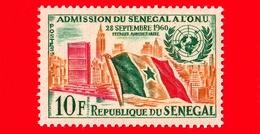 SENEGAL - 1962 - 1 ° Anniversario Dell'ammissione Alle Nazioni Unite (ONU) - Bandiere - 10 - Senegal (1960-...)