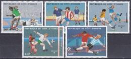 Elfenbeinküste Ivory Coast Cote D'Ivoire 1986 Sport Fußball Football Soccer Mexiko Mexico WM, Mi. 913-7 ** - Côte D'Ivoire (1960-...)