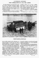 """"""" AUTOMOBILE SCHNEIDER """" Pour STERILISATION De L'EAU Par L'OZONE   1914 - Otros"""