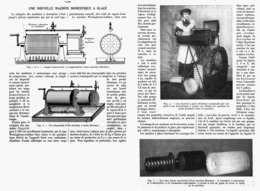 UNE NOUVELLE MACHINE DOMESTIQUE à GLACE  1914 - Technical
