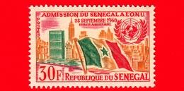 SENEGAL - 1962 - 1 ° Anniversario Dell'ammissione Alle Nazioni Unite (ONU) - Bandiere - 30 - Senegal (1960-...)