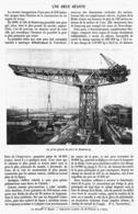 LA GRUE GEANTE DU PORT De HAMBOURG   1914 - Technical