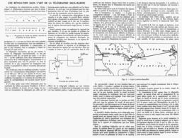UNE REVOLUTION DANS L'ART DE LE TELEGRAPHIE SOUS-MARINE    1914 - Technical