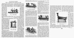 LES NOUVELLES MACHINES Pour La FABRICATION DES BOUTONS De NACRE    1914 - Technical