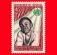 SENEGAL - 1968 - 20 Anni Dell'Organizzazione Mondiale Della Sanità -  W. M.S. - 45 - Senegal (1960-...)