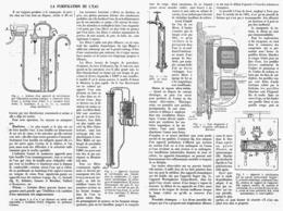 LA PURIFICATION DE L'EAU  1914 - Technical