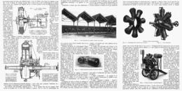 """LE NOUVEAU MOTEUR """" GNOME """" - LE MONOSOUPAPE   1914 - Transports"""