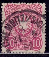 """Germany 1880, Imperial Eagle, 10 """"Pfennig"""",sc#39 Used - Germany"""
