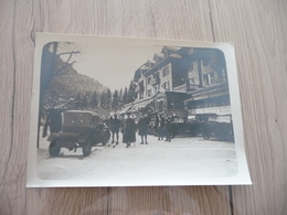 Photo Originale Janvier 1928 Saint Pierre De La Chartreuse Hôtel Du Grand Jour Personnalités Autos - Plaatsen