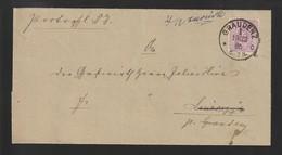 H 40) DR 1885 HSt GRAUDENZ Portopfl. DS Nach Linarczyk (Grundbuch-Eintrag) - Covers & Documents