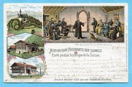 Historische Postkarte Der Schweiz - Niklaus Von Der Flüe Auf Der Tagsatzung Zu Stans 1898 - OW Obwald