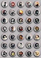 35 X ROCK STEVIE NICKS Music Fan ART BADGE BUTTON PIN SET 4 (1inch/25mm Diameter) - Music