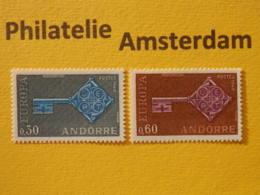French Andorra 1968, EUROPA/CEPT, Mi 208-09, ** - Europa-CEPT