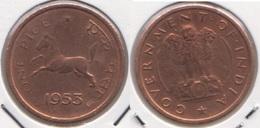 India 1 Pice 1953 KM#1.4 - Used - India