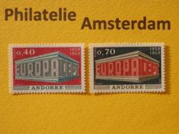 French Andorra 1969, EUROPA/CEPT, Mi 214-15, ** - Europa-CEPT