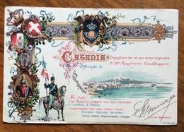 CATANIA 22 REGGIMENTO CAVALLEGGERI   CARTOLINA VIAGGIATA NEL 1909 - Guerra 1914-18