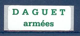 FM N° 13A ETIQUETTE DAGUET ARMEES RARE ** - Franchise Militaire (timbres)