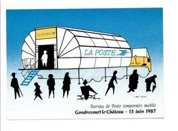 BUREAU DE POSTE TEMPORAIRE MOBILE DE GONDRECOURT LE CHATEAU 1987 - Postal Services