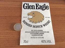 Etiquette Ecosse « BLENDED SCOTCH WHISKY - Glen Eagle - KYLES BLENDING COMPAGNY - GLASGOW» (oiseau, Aigle) - Whisky