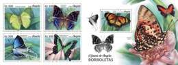 Z08 ANG18110ab ANGOLA 2018 Butterflies Set Of 4 Stamps MNH ** Postfrisch - Angola