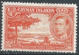 Cayman Islands. 1938-48 KGVI. ¼d MH. P13½X12½ SG 115a - Cayman Islands