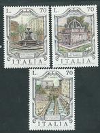 Italia 1975; Fontane D' Italia: L' Aquila, Milano, Sassari. Serie Completa - 6. 1946-.. Repubblica