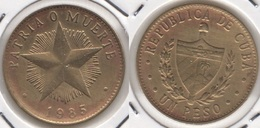 CUBA 1 Peso 1985 KM#105 - Used - Cuba