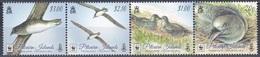 Pitcairn 2016 Tiere Fauna Animals Vögel Birds Oiseaux Aves Uccelli Phönix-Sturmvogel Petrel WWF, Mi. 971-4 ** - Briefmarken
