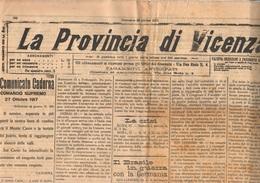 Cadorna Comunicato 27 10 1917 Durante Caporetto Giornale Con Lettera X No Aiuti Ai Prigionieri Italiani In Austria - Documenti