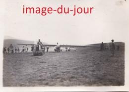 Photo Ancienne Camp De Vol A Voile D' Avranches 1935   L'arrivée Sur L'aire De Départ Une Remorque  ( Aviation Planeur ) - Aviation