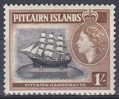 Pitcairn 1957 Transport Verkehr Seefahrt Schiffe Ships Segelschiffe HMS Bounty, Mi. 28 ** - Pitcairninsel
