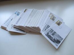 UDSSR / CCCP 1989 FDC ?? Propagandaumschläge Gorbatschow / Panzer / Befreiung Insgesamt 130 Stück!!! - Covers & Documents