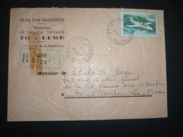 LR TP AVION MS 760 PARIS 3,00 OBL.9-11 1970 70 LURE HAUTE-SAONE + TRIBUNAL DE GRANCE INSTANCE - Marcophilie (Lettres)