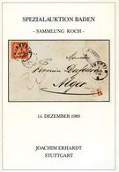 Baden Spezialauktion Sammlung Koch - 21. Erhard 1989 - Auktionskataloge