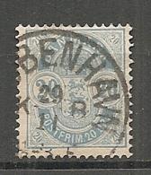 Yv. DK  N°  37  Dent 14 X 13 1/2   (o)  20o  Bleu Cote  4 Euro BE  2 Scans - 1864-04 (Christian IX)