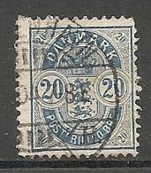 Yv. DK  N°  37a  Dent  12 1/2   (o)  20o  Bleu Cote  4 Euro BE  2 Scans - 1864-04 (Christian IX)