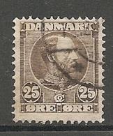 Yv. DK  N°  45   (o)  25o  Christian IX   Cote  4,5 Euro BE    2 Scans - 1864-04 (Christian IX)
